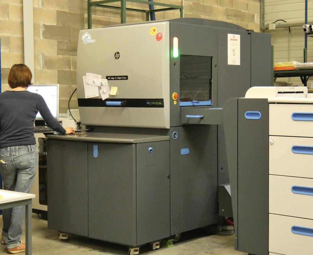Notre machine d'impression, une HP Indigo 5600, une qualité et une flexibilité incomparable !
